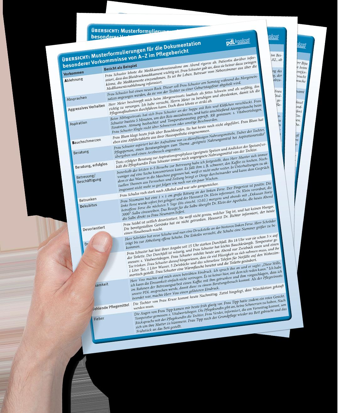 Pdf Pflegedokumentation Formulierungshilfen 8